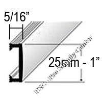 Dural Duralis Listello Deco Aluminum Profiles 1 Inch