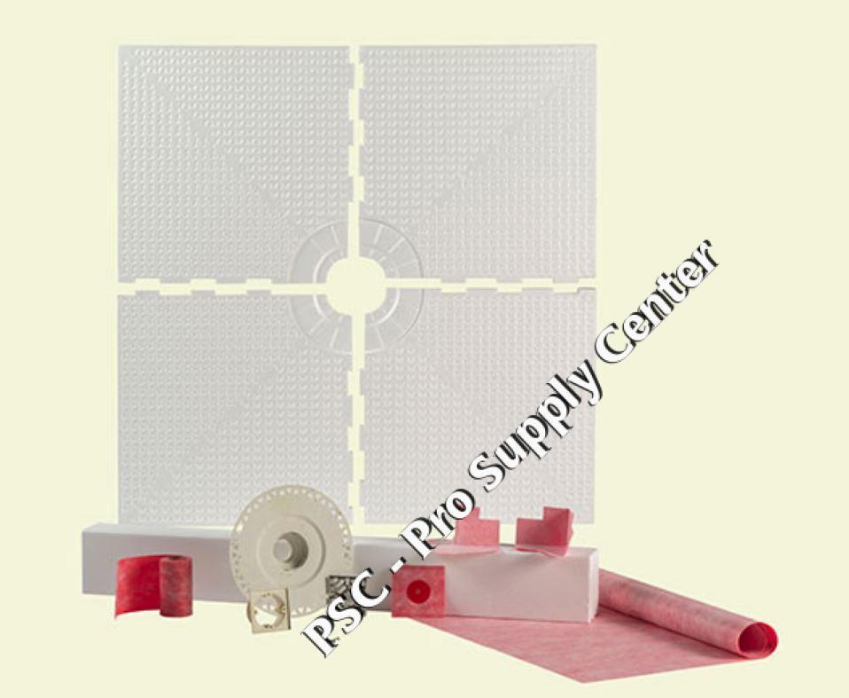 Loxcreen 48 x 48 Prova Shower Kit Center Drain for Tile Waterproofing