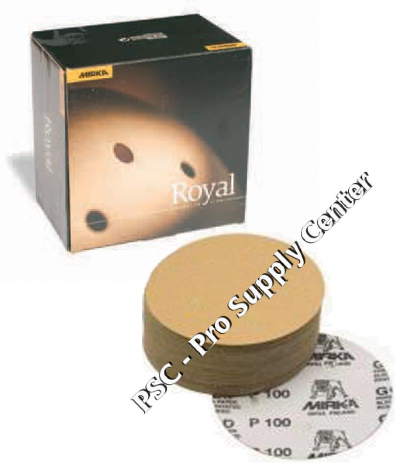 Mirka Royal 6 Inch Hook n Loop 100 600 Grit Sanding Discs