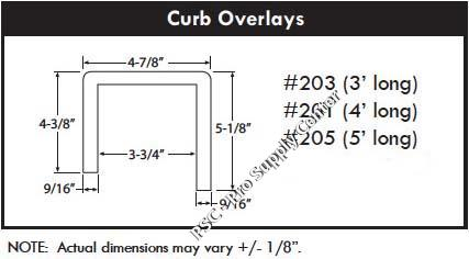 Beau Shower Curb Overlay Dimensions ...