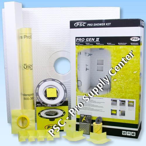 Psc Pro Gen Ii 60x60 Custom Tile Waterproofing Shower Kit
