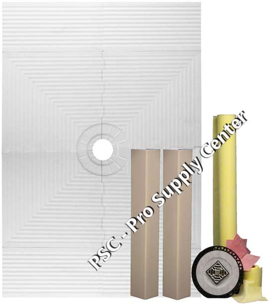 Pro 48 x 72 Shower Systems Waterproofing Kit for Tile Showers