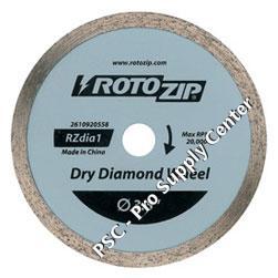 Roto Zip Rzdia1 Dry Diamond Zipwheel For Ceramic Tile