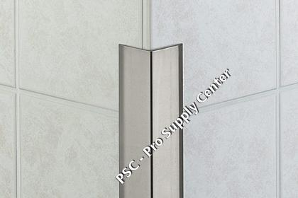 Schluter eck k tile wall edge protection profiles for Baguette alu carrelage