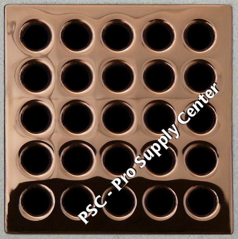 Ebbe Drain Grate cover colorPolished Copper E4406