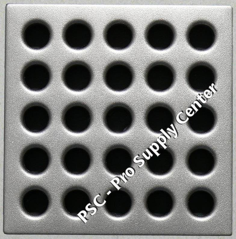Ebbe Drain Grate cover color Satin Nickel E4410
