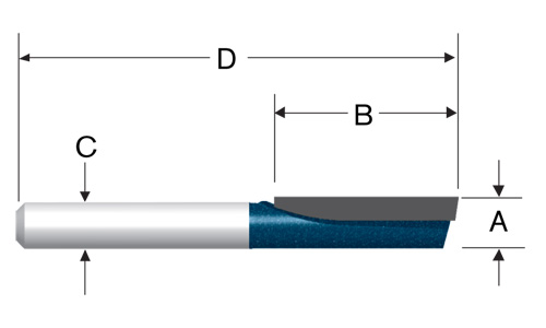 Carbide Tipped Single-Flute Straight Bits by Bosch