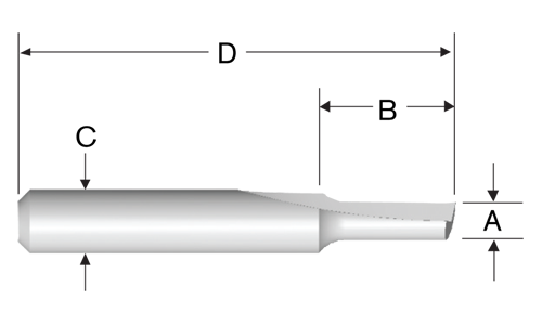 High-Speed Steel Single-Flute Straight Bits by Bosch