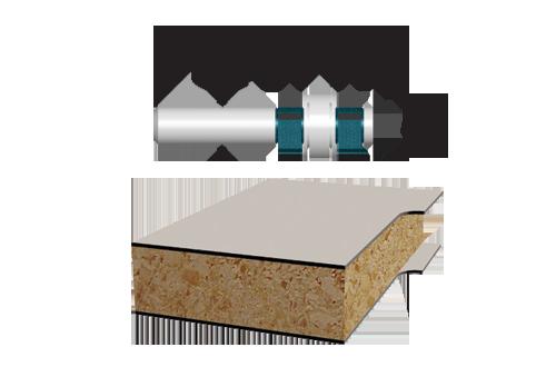 Carbide Tipped 4 Flute Flush and Bevel Laminate Trim Assemblies by Bosch
