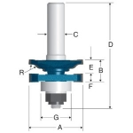 Bosch Carbide Tipped Ogee Stile and Rail Router Bits