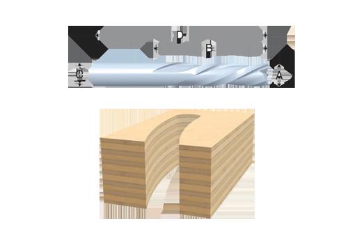 Solid Carbide 2 Flute Chipbreaker Spirals by Bosch