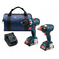 Bosch 18V 2 Tool Combo Kit 1 4 n 1 2 2-In-1 Bit Socket Impact wrench