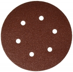 Bosch 6 Inch 6 Hole Hook and Loop Wood Sanding Discs 25 Pack
