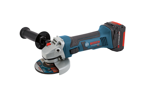 18V 4 1 2 Angle Grinder with 2 FlatPack Batteries by Bosch