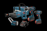 Bosch 18V 4 Tool Kit with Brute Tough Hammer Drill Driver