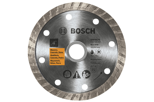 DB442S 4 Inch Standard Turbo Rim Diamond Blade by Bosch
