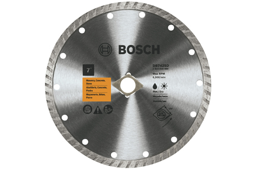7 Inch Turbo Rim Diamond Blade by Bosch