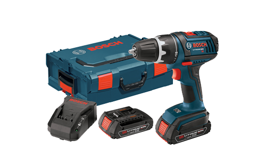 18V Compact Tough 1 2 Drill with  L-Boxx2 by Bosch