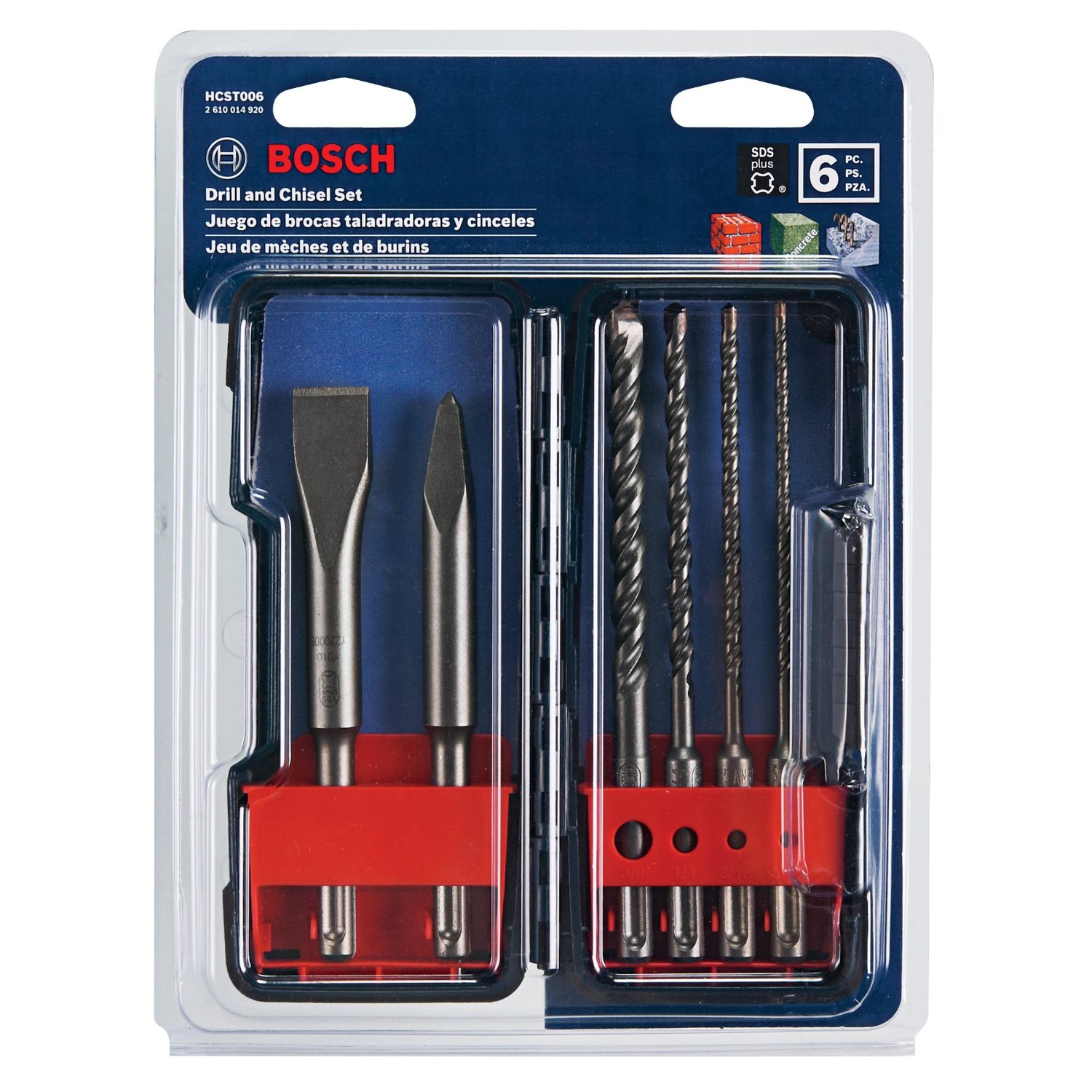 SDS Plus Shank Chisel and Carbide Masonry Trade Set by Bosch