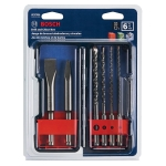Bosch SDS Plus Shank Chisel and Carbide Masonry Trade Set