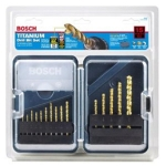 Bosch TI15 Titanium Coated Drill Bit 15 Piece Set