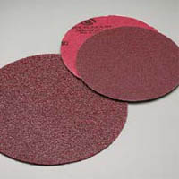8 Inch Premier Red Plain Coarse Discs Grits 36 - 80 by Carborundum Abrasives