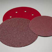 8 Inch 8 Hole Red Hook and Loop Discs Grits 40 and 80 by Carborundum Abrasives