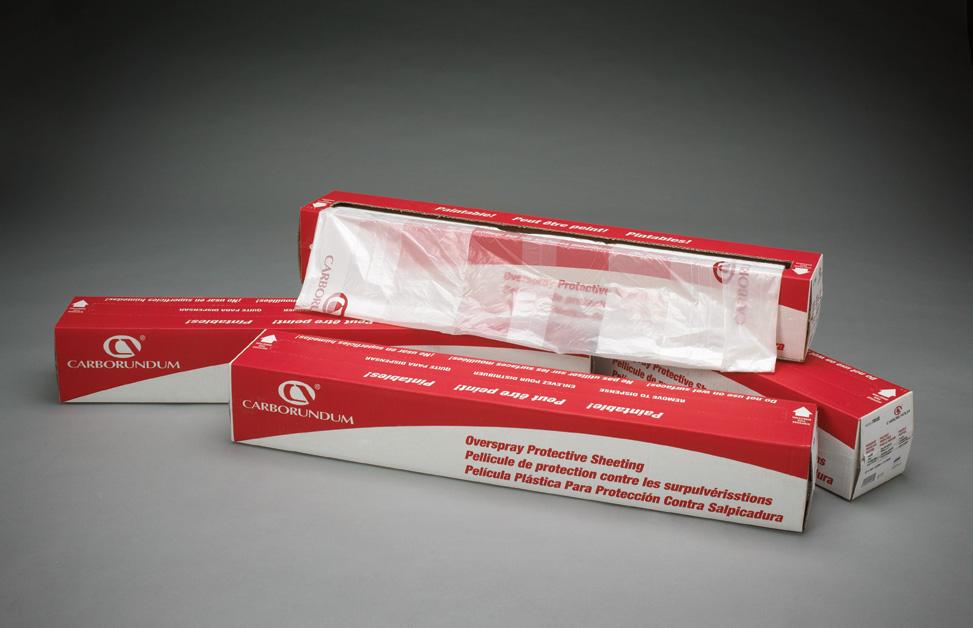 Value Overspray Plastic Sheeting by Carborundum Abrasives