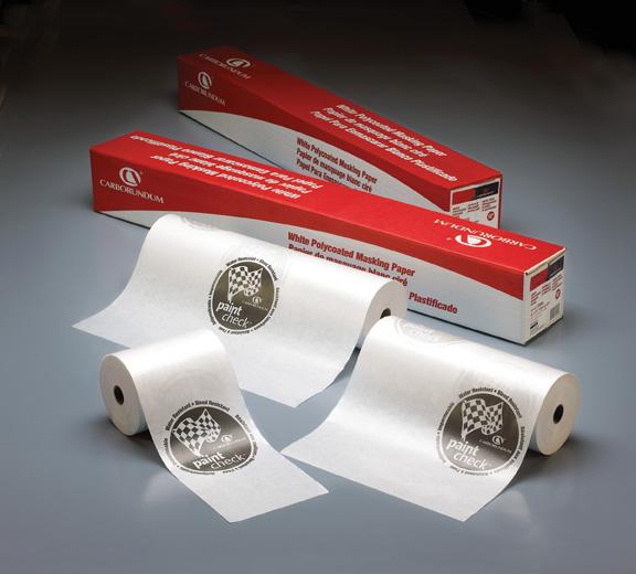 Premium White Polycoated Masking Paper by Carborundum Abrasives