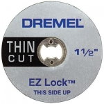 Dremel EZ409 EZ Lock Thin Cut Cut-Off Wheels 1 1 2 Inch