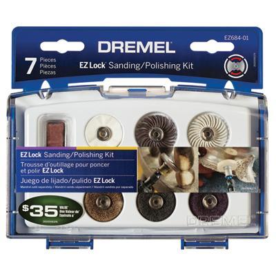 7 Piece EZ Lock Mini Sanding and Polishing Accessory Kit by Dremel