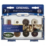 Dremel 7 Piece EZ Lock Mini Sanding and Polishing Accessory Kit