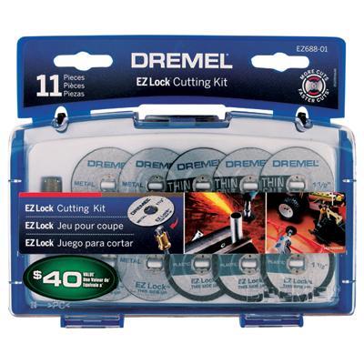 11 Piece EZ Lock Mini Cutting Accessory Kit EZ688-01 by Dremel