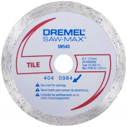 Dremel  3 in   Steel  Diamond Tile Wheel  SM540