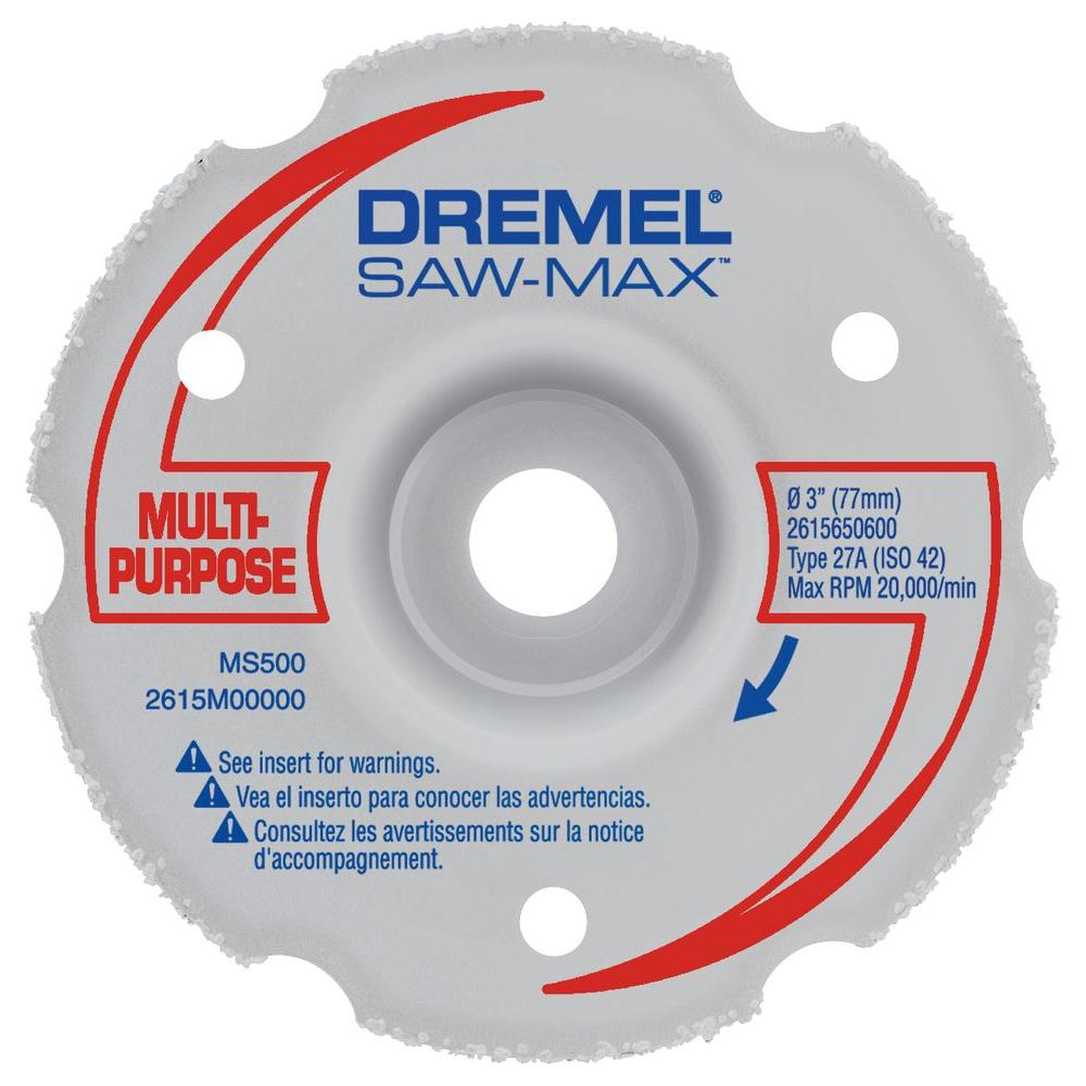 SM600 3 In  Saw-Max wood and plastic Flush Cut carbide Wheel by Dremel