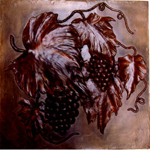Metallic Tile Tuscan Art 16 x 16 Inches by Tiles-R-Us
