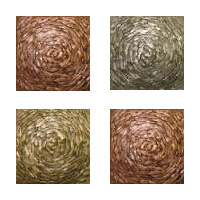 Metallic Tile Moonstruck Artisan Field Tile 4 x 4 Inches by Tiles-R-Us