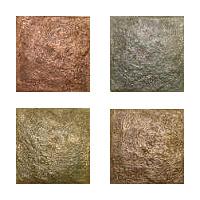 Metallic Tile River Rock Artisan Field Tile 4 x 4 Inches by Tiles-R-Us