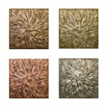 Metallic Tile Sunburst Artisan Field Tile 4 x 4 Inches
