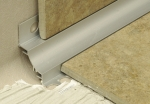 Internal Cove Tile Trim Satin Silver Anodized Aluminum