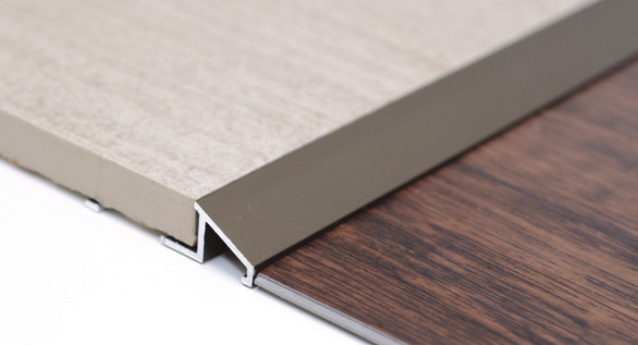Reducer Transition Trim in Stainless Steel by Tiles-R-Us