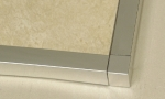 Square Edge Tile Trim Brushed Stainless Steel Corner