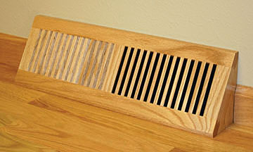 Wood Vent Floor Register Base Vent by Grill Works