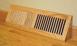 Wood Vent Floor Register Base Vent