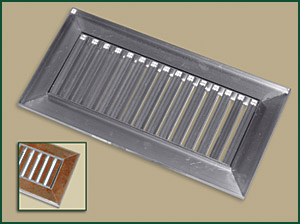 Floor Vent Ceramic Tile Cradle Register by Grill Works