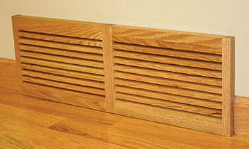 Wood Vent Wall Mount One Directional Vent by Grill Works