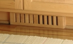 Clearance  Wood Vent Register  ToeKick 2 5 x14  Natural Finish Maple