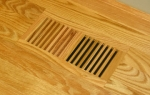Wood Vent Floor Register Flush Frameless 6 x14  Natural Finished W Oak