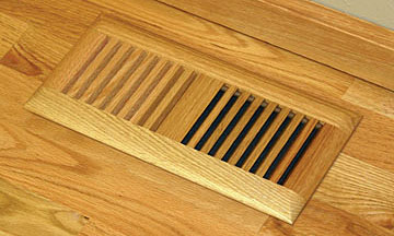 Wood Vent Floor Register Trimline Insert Model by Grill Works