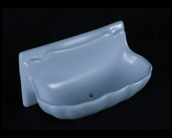 H36S Ceramic Shell Soap Dish 3 x 6 Inch by HCP Industries